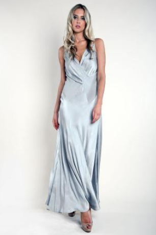 Bridesmaids Dresses Full Length Formal Grey