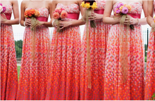 Bridesmaids Dresses Ideas Full Length Orange
