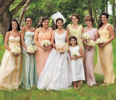 Bridesmaid Dresses non matching full length 2012 2013