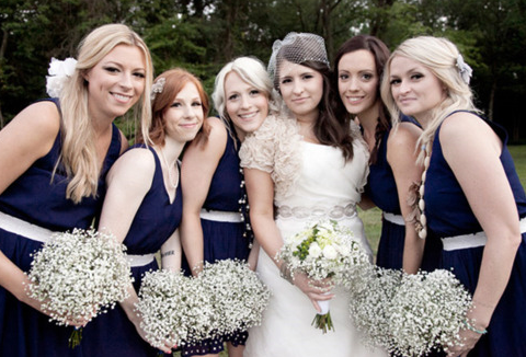 Bridesmaids Navy White