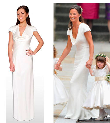 Debenhams Pippa Middleton Dress