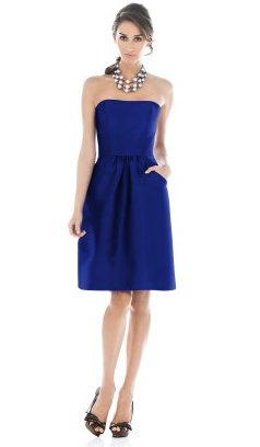 Short Bridesmaid Dresses Royal Blue 2012 2013