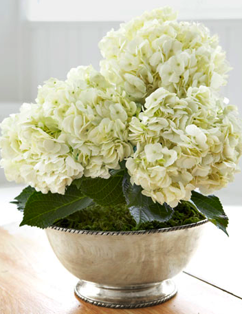 White Silver wedding flowers