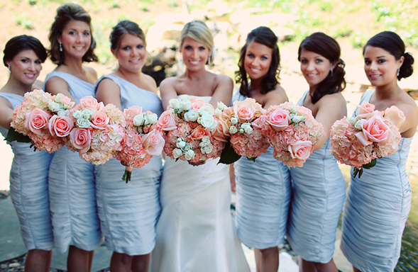 Bridesmaids Inspiration Aqua Baby Blue Short