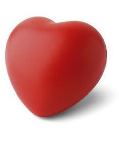 Red Wedding Favour Heart