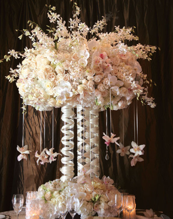 Wedding Centrepieces Ideas High Glass White