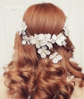 Floral Hair Ideas Wedding 2012
