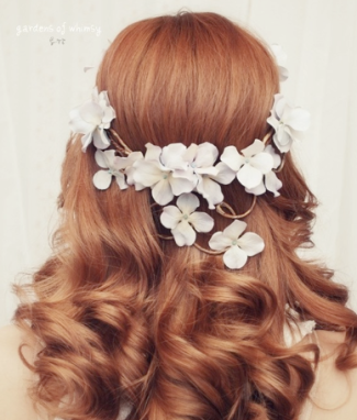 Floral Hair Ideas Wedding 2012