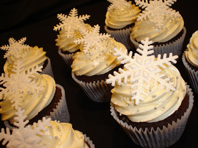 Wedding Cupcakes White Iced Winter