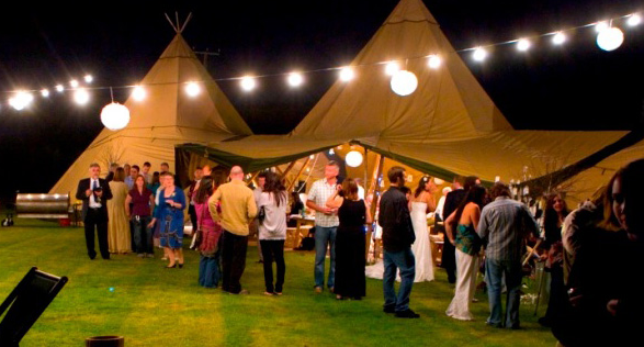 Giant Hat Tipis Weddings Outdoors