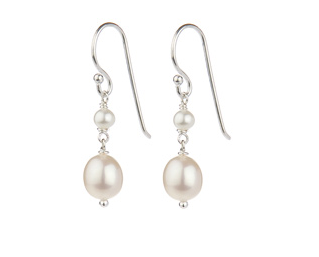 Bridal Jewellery Earrings Pearl Classic