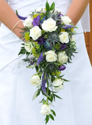 Wedding Floral Ideas Scottish Purple White Plaid