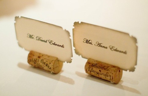 Wedding table names cork