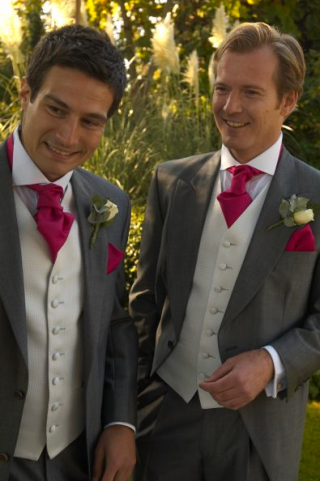 Groomswear Wedding Ideas Classic Grey Colour Pink