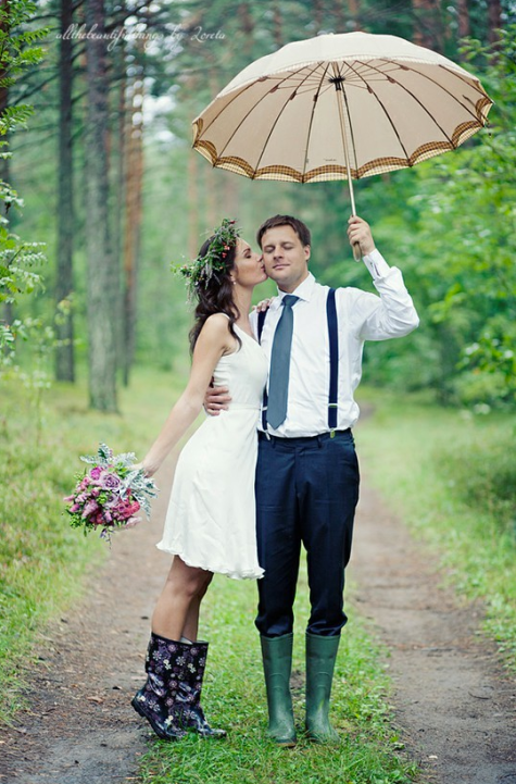 Rainy Wedding Ideas Umbrellas