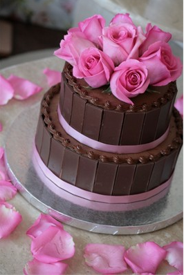 Wedding Cakes Brown Pink Inspiration