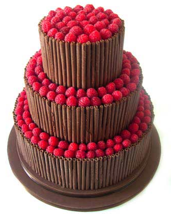 Chocolate Wedding Cake Inspiration