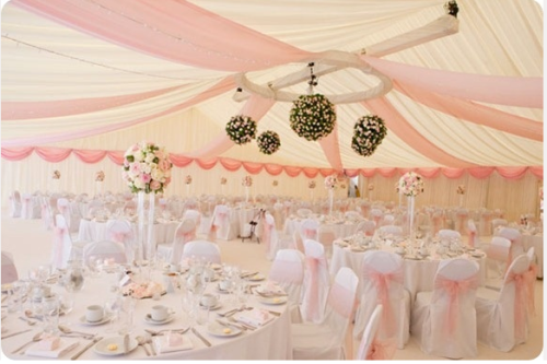 Marquees Interiors Pink White Wedding