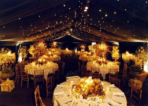 Autumnal Wedding Marquee Design