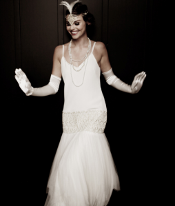 20s wedding dress flapper style