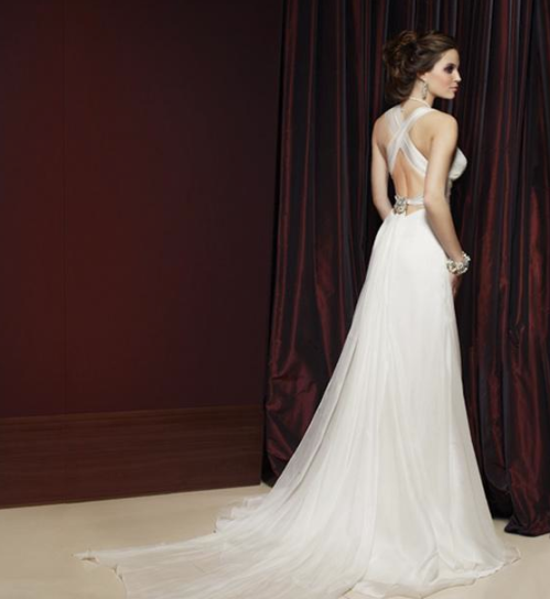 Bride Gown Glamour Hollywood White