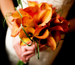 Wedding Flowers Calla Lilies orange
