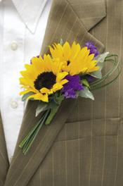 Buttonhole Ideas Sunflowers