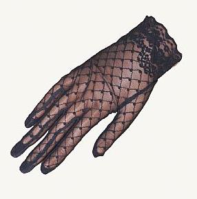 Wedding Gloves Rock Black Lace