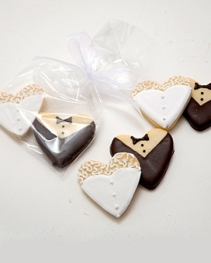 Wedding Favour Ideas Black White Edible