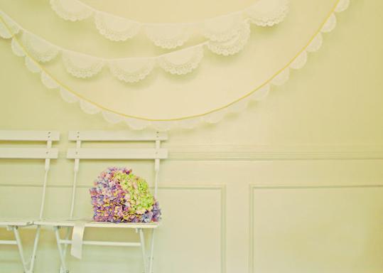 DIY Bunting Ideas Weddings White