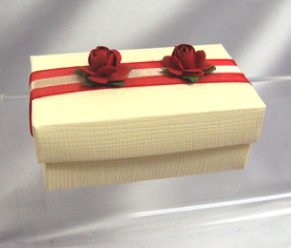 Wedding Cake Box Red Roses