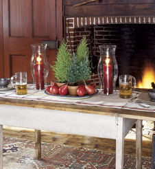 Winter Wed Decorations Fircones