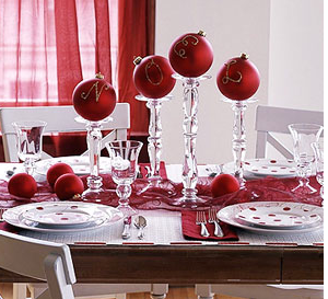 Red Table Ideas Winter Wedding Festive