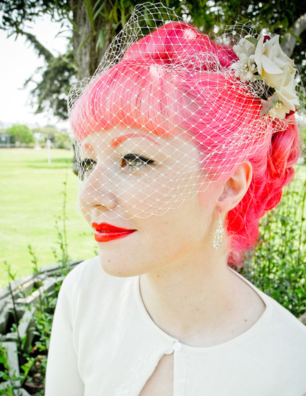 Veil Netting Punk Bride Vintage