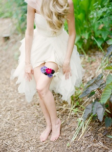 Garter Wedding Inspiration Floral Bright