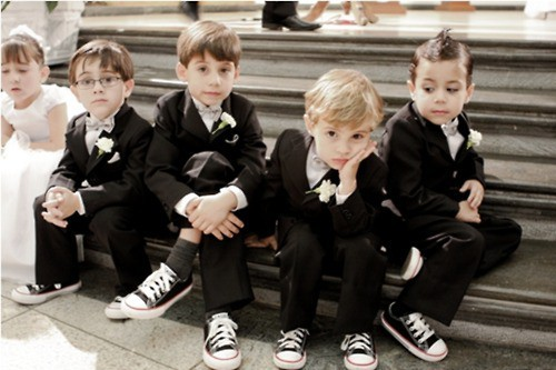 Alternative pageboy ideas wedding rock theme