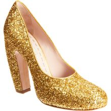 Bride Shoes Metallic Gold Sparkly