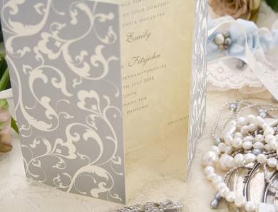 French inspired wedding invites