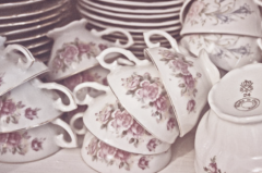 French Inspired Wedding Rococo Teacups Decor