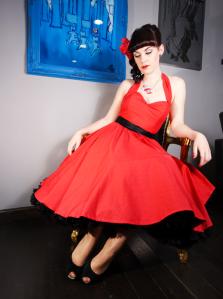 Vintage Bridal Dress Red