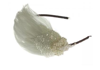 Luxury Bridal Hairband Wedding Vintage Feather 1920s
