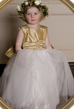 Flowergirl Inspiration Gold Royal Wedding