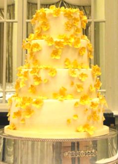 Wedding Inspiration Gold Cake