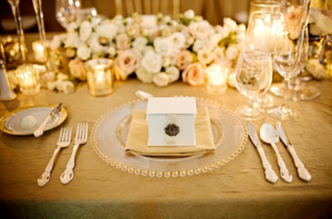 Gold wedding inspiration table decor