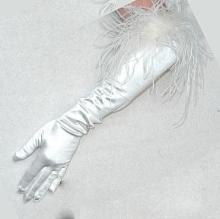 Bridal Gloves full length white
