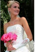 Bridal Glove 3/4 Length White Satin