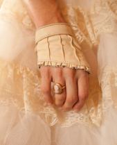 Bridal glove short leather