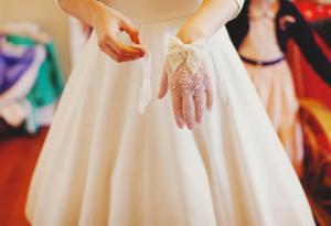 Bridal Glove Vintage Wedding Lace Bow