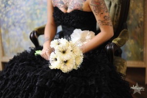 Black Bridal Gown Rock