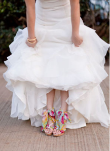 Bride Shoes Vibrant Coloured Wedding